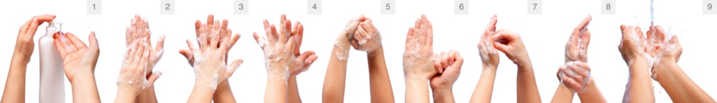 Correct Hand Washing - Medical Procedure Step By Step