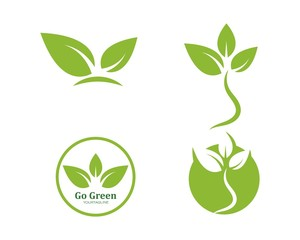 green leaf ecology nature element vector icon of go green