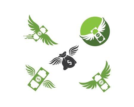 money wings  logo icon vector illustration