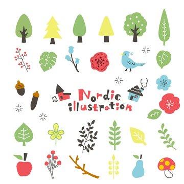 北欧 植物 イラスト
