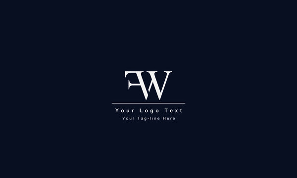 FW or WF letter logo. Unique attractive creative modern initial FW WF F W initial based letter icon logo