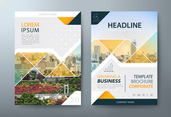 Annual report brochure flyer design, Leaflet presentation, book cover templates, layout in A4 size.