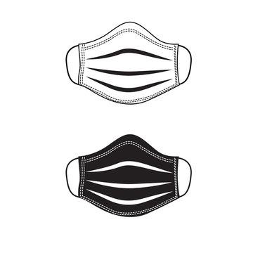 Medical respiratory mask. Face mask vector illustration