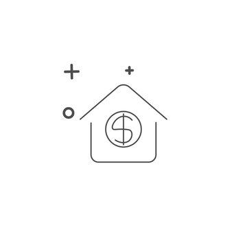 money house icon design templates