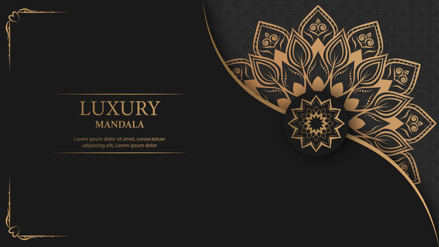 Creative luxury decorative mandala background