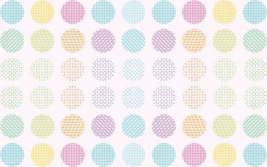 Background Geometric,Polka,Dots,Blue,Pink,Orange