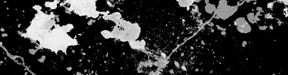Foto auf Leinwand Schwarz Panorama d'arrière-plan graphique de texture tâchée noir et blanc