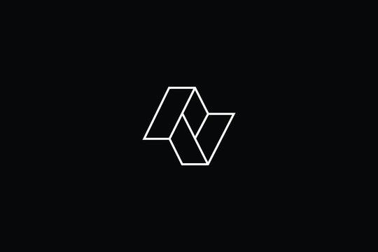 Minimal elegant monogram art logo. Outstanding professional trendy awesome artistic AV VA Z ZZ ZV VZ initial based Alphabet icon logo. Premium Business logo White color on black background
