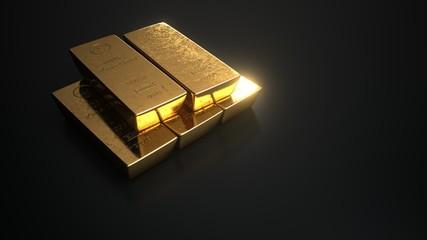 Fototapete - 1000g Gold Barren Finegold
