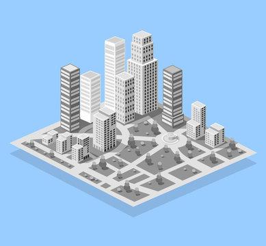 City set modern skyscraper building for Urban cityscape