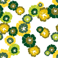 Seamless floral pattern with hand draw spring flower
