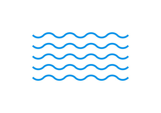 Wave line icon. Water sign. Sea and ocean logo. Vector illustration.
