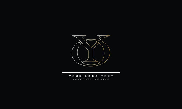 YO ,OY ,Y ,O  Letter Logo Design with Creative Modern Trendy Typography