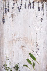 Obraz deska z lawenda  - fototapety do salonu