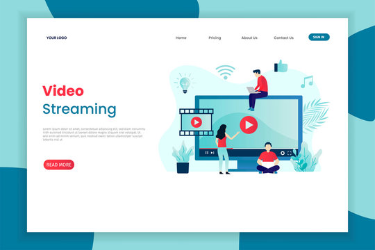 video streaming service landing page template. Landing page template