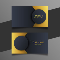 Elegant minimal black and gold business card template.