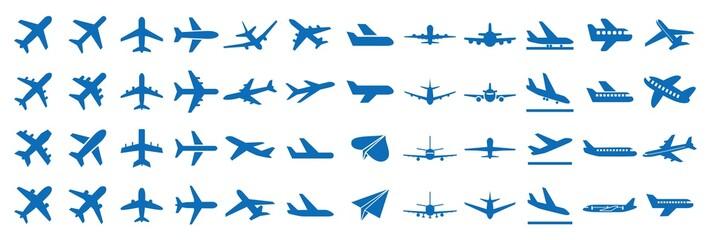 飛行機 アイコン Fotobehang