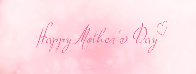 Fototapete - happy mothers day - abstract background banner