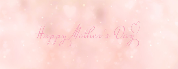 Fototapete - Abstract pastel background with hearts - concept Mother's Day