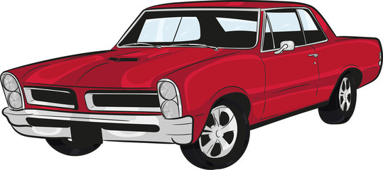cartoon car, muscle car,classic car,historic car