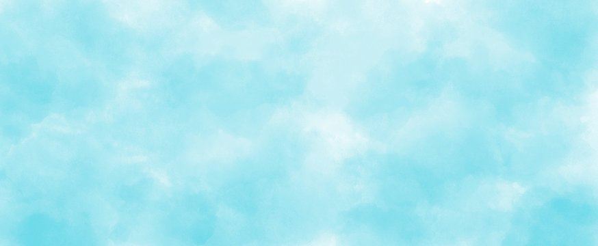 Light blue watercolor background hand-drawn with copy space for text