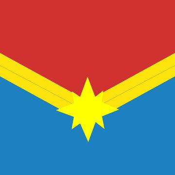 Captain marvel logo. Marvel films. Superhero icon.