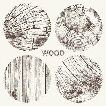 Wood Texture Vector Set