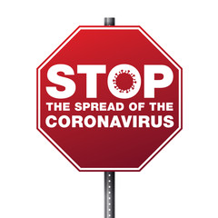 Stop the Spread of Coronavirus Illustration