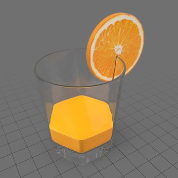 Glass with orange juice 2
