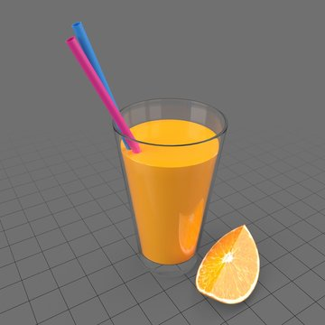 Glass with orange juice 1