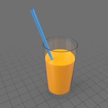 Glass with orange juice 3