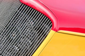 Wall Mural - red and yellow vehicle panels closeup