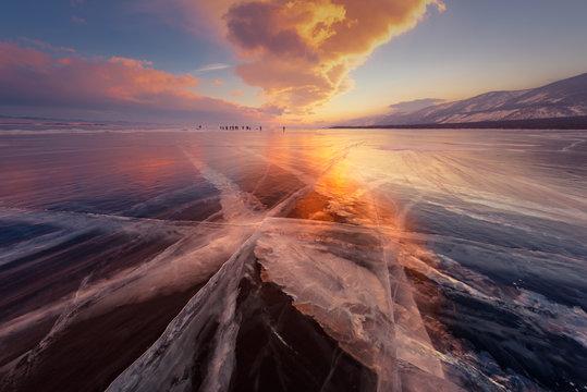 The natural scenery of Lake Baikal, Russia.