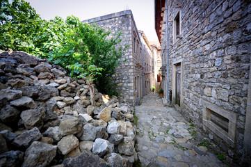 Canvas Prints Narrow alley Ulcinj