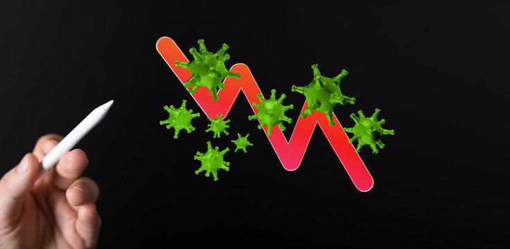 The coronavirus impacts the global economy..