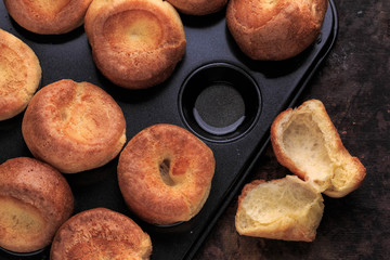Yorkshire Puddings. Easy Traditional Popovers. Homemade Traditional Yorkshire Puddings.