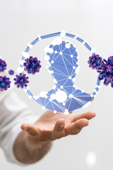 epidemic corona virus 2019-nCoV 3d digital..