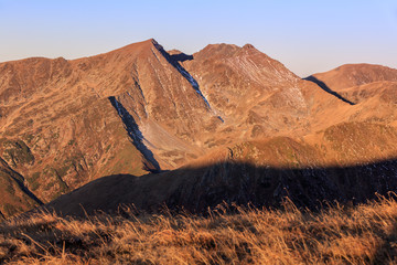 Wall Mural - sunrise in Fagaras Mountains, Romania