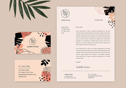 Tropical Business Stationary Set