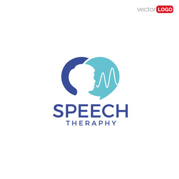 Kids Speech Theraphy icon/symbol/Logo Design Vector Template Illustration