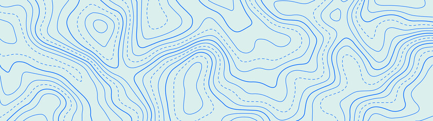 Deurstickers Lichtblauw Topographic map lines background. Abstract vector illustration.