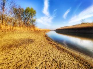 Canvas Prints Honey River Begej . Zrenjanin, Vojvodina, Serbia