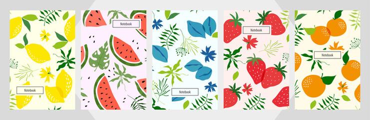 Lamas personalizadas para cocina con tu foto Modern template fruit  vector notebook background.