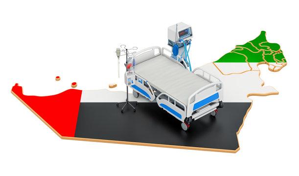 Intensive care unit ICU in the UAE, 3D rendering