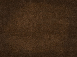 Old rough paper sheet. Dark brown paper texture background.