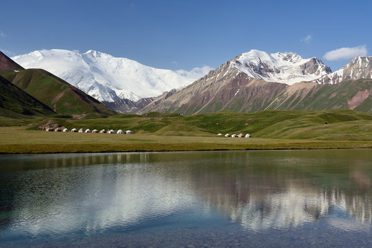 View on the Alay Valley near Lake Tolpur, Kyrgyzstan.