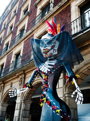 Day of the dead sculpture, Mexico city