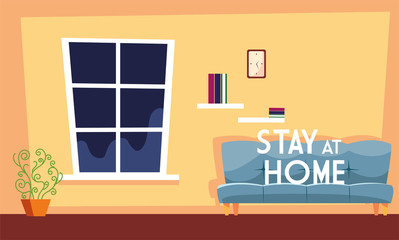 Canvas Prints Positive Typography stay at home awareness social media campaign and coronavirus prevention