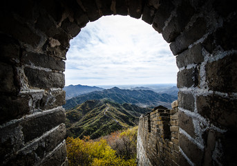 Foto op Canvas Chinese Muur The Endless Great Wall of China Five