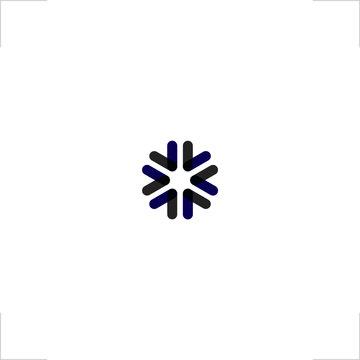 abstract light logo snow flake design